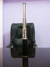 """Nautical Telescope W/Black leather sheathed~Chrome Finish Reproduction Item 18"""""""