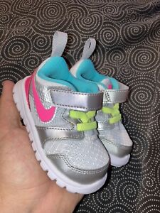 Toddler Nike Flex Experience TDV Grey/Pink Athletic Shoes Size 4C 653700-002