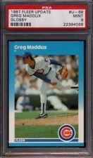 Lot of (3) Greg Maddux Braves HOF 1987 Fleer Update Glossy #68 Rookie rC PSA 9