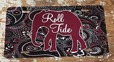 Alabama License Plate Roll Tide Car Tag Crimson Tide Elephant