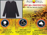 MENS LS T-Shirt UV SUN PROTECTION 50+ BAMBOO COTTON ORGANIC