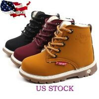 Children Warm Boys Girls Martin Sneaker Boots Kids Baby Casual Soft Sole Shoes