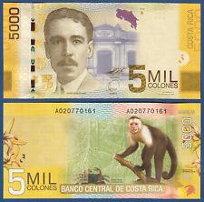 COSTA RICA 5000 Colones 2009 UNC  P. 276 a
