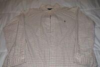 Polo Ralph Lauren Men's L/S Button Down Shirt Slim Fit XL Green/Pink/White