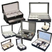 PU Leder Uhrenbox Uhrenkoffer Uhren Uhrentruhe Uhrenkasten Uhrenschatulle DE