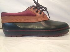 Womens Duck Boots Size 8 Thermolite Green Maroon Rain Snow Shoes Colorado Mocs