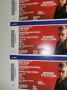 Robbie Williams München Early entry Tickets Stehplätze Gold!!!