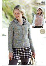 Sirdar Freya Knitting Pattern for Jacket and Gilet - 9887