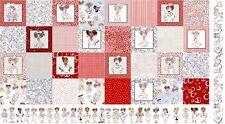 "Loralie Medley Nifty Nurses Hospital Medical RN LPN Cotton Fabric 24""X44"" Panel"