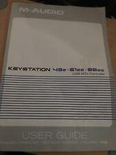 M-Audio Keystation 49e 61es 88es USB MIDI Controller MANUAL - Free P&P UK ONLY