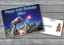 Personalizado E.t. El Extraterrestre Tarjeta De Cumpleaños-Retro et tarjeta de saludos (S2)