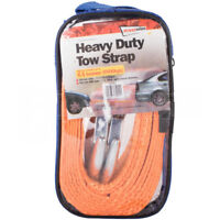 HEAVY DUTY TOW STRAP TOWING TOW FLAG 4.5 TONNES STRONG BRAIDED thick breakdown