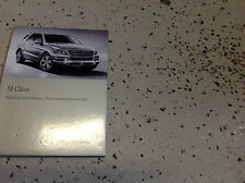 2013 Mercedes Benz ML ML350 ML550 ML63 Class Digital Owners Operators Manual CD