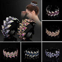 Hair Crystal Women Girls Holder Bun Comb Clip Hairpin Ponytail Fashion Claw