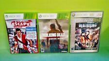 Dead Rising Escape Dead Island, Walking Dead Instinct Zombie Horror Lot XBOX 360