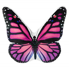 JWH 3D Animal Accent Pillow Lifelike Butterfly Shape Cushion Stuffed Super Soft