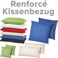 2er Pack Baumwolle Kissenhülle Renforcé Kissenbezug Deko Kissen Bezüge mit RV