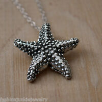 Starfish Necklace - 925 Sterling Silver Starfish Charm Jewelry *NEW* Ocean Beach
