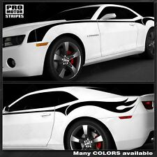 ( GRAY) Chevrolet Camaro 2014 2015 Firebreather Side Stripes Flame Decals GRAY