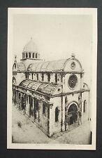 Alte Foto- AK Sebenico Sibenik -Kroatien -Duomo /Dom Außenansicht