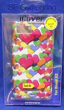 New iCover Rubberized Hard Design Case Motorola Droid X2 MB810/MB870 MultiHearts