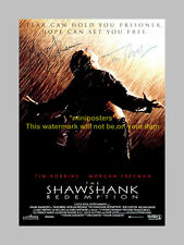 SHAWSHANK REDEMPTION X2 PP SIGNED POSTER 12X8 N2