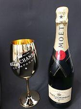 Moet Chandon Impérial Champagner 0,75l Flasche 12% Vol + 1 Gold Echtglas Gläser
