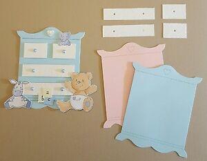 Luxury Cute Baby chest of drawers Die Cuts x 6