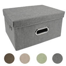 1/2/3x Large Collapsible Foldable Cloth Fabric Cubby Cube Storage Bin Box Basket
