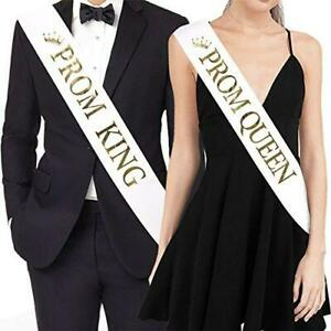 """TTCOROCK""""Prom King"""" and""""Prom Queen"""" Sashes - Graduation Party School Party"""