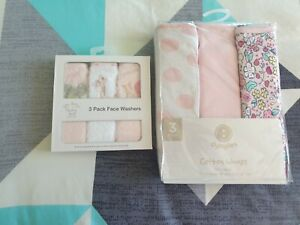 Baby Cotton Wraps And Face Washer Set