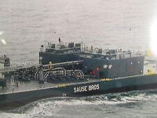 "Sause Bros. SEA BARGE ""Framed"" LOOKS LIKE A FUEL BARGE 13X10"""