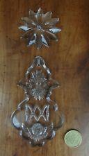 grande pampille gravée AM lustre église large crystal pendant 21 disponibles BEG