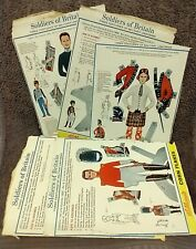 More details for 5 vintage kelloggs corn flakes cereal box cut out models soldiers of britain