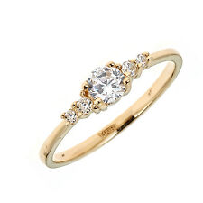 14K Solid Gold Cubic Zirconia 5 Stone Baby Ring
