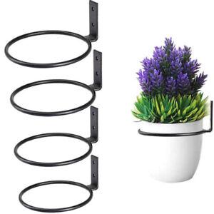 Garden Plant Hanging Basket Bracket Flower Pot Holder Wall Mounted Ring Holder