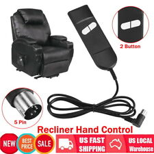 Electric Recliner Chair Sofa 2 Button 5Pin Hand Switch Remote Control Convenient