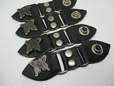 BUTTERFLY LEATHER VEST EXTENDERS 4.5 inches Biker vest Lady Rider Harley