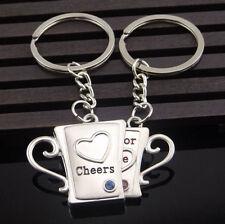 MonkeyEAT Cheers Mug For Love Valentine's Day Couple's Keychain