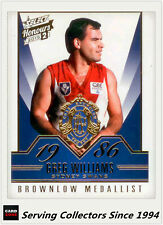 2015 Select AFL Honours S2 Brownlow Gallery Card BG84 Greg Williams (Sydney)