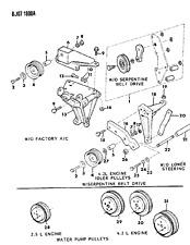 1987-1996 Dodge Dakota Serpentine Drive Belt Idler Pulley New OEM 53002905