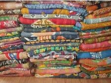 INDIAN OLD VINTAGE PATCHWORK KANTHA STITCH QUILT BLANKET THROW GUDARI LOT 50 pcs