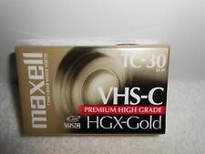 Maxell TC-30 VHS-C Blank Camcorder Video Tape HGX-Gold Premium High Grade v