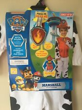 Nickelodeon Paw Patrol Marshall Child Costume Dress Up 2T - 3-T