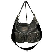Coach Poppy 14561 Hobo Swing Bag Metallic Gunmetal Handbag Purse
