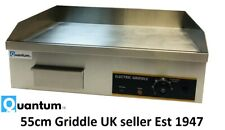 55cm Commercial Electric Table top Griddle 3kW Catering Quantum CE ® KSL-G55