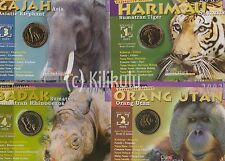 12pc Animal Wildlife Endangered Species 2003 Malaysia Coin set UNC folder Nordic