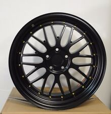 "19"" BLACK LM STYLE STAGGERED WHEELS RIMS TOYOTA LEXUS Supra GS300 IS300 GS400"