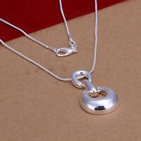 ASAMO Damen Halskette mit Anhänger 925 Sterling Silber plattiert Kette HA1269