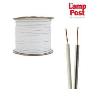 100m Drum White & Black 2 Core Bell Wire 100 Metres - SFX/BW-PVC